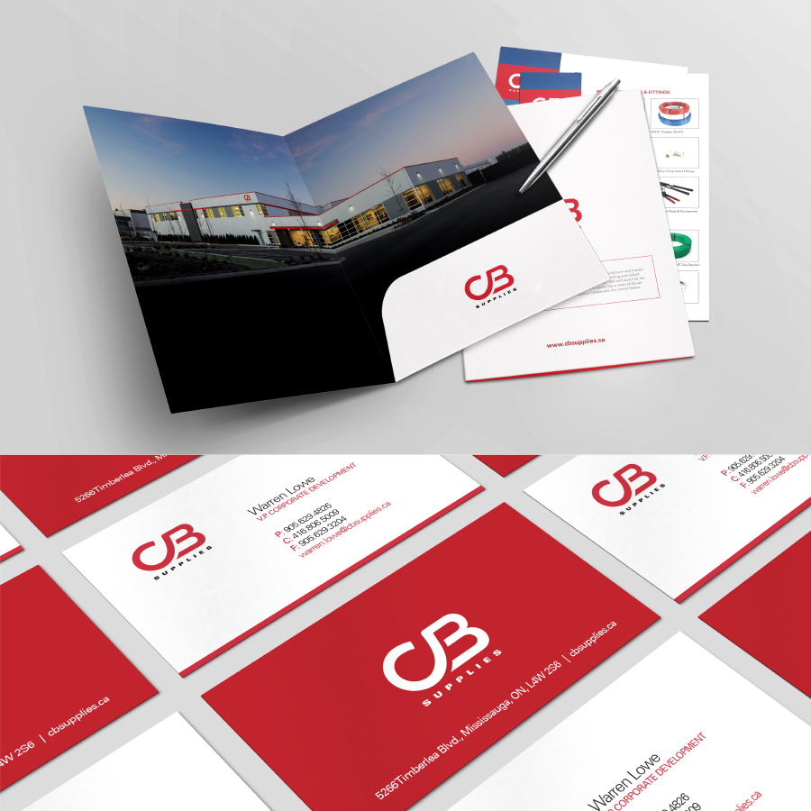 CB Supplies sales collateral and business cards