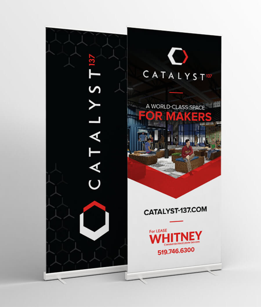 Catalyst137 stand-up banners