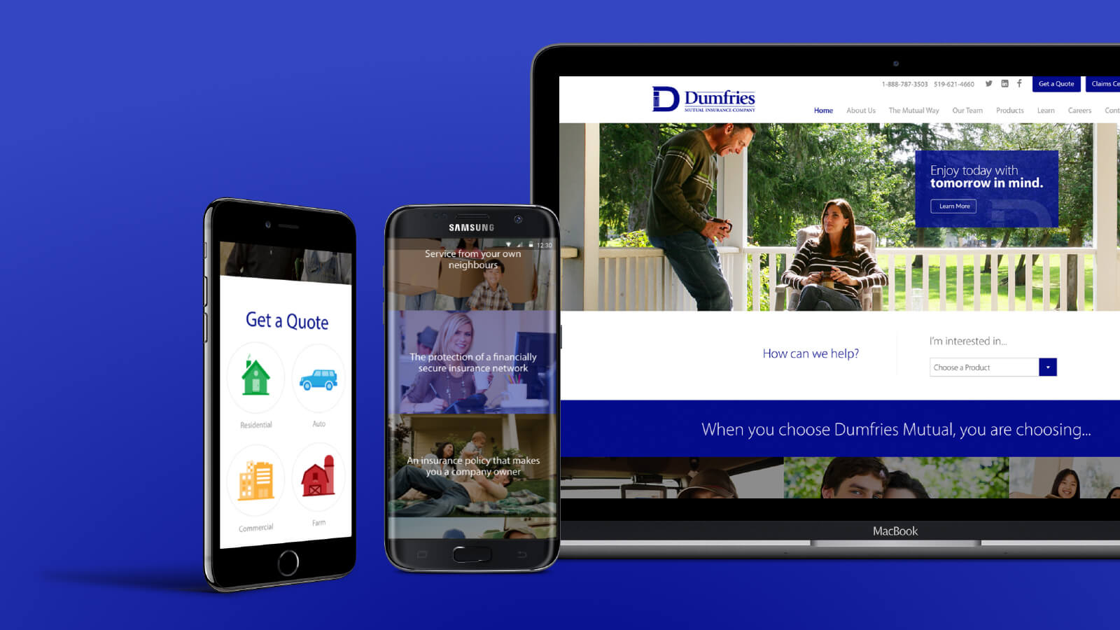 Dumfries Mutual Insurance website design