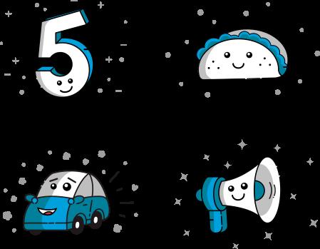 RideCo illustrated icons