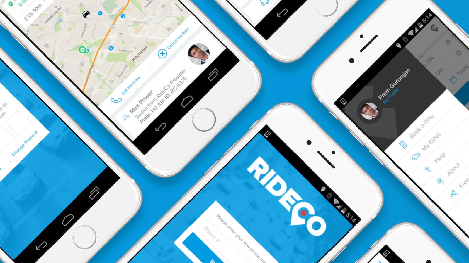 RideCo mobile app