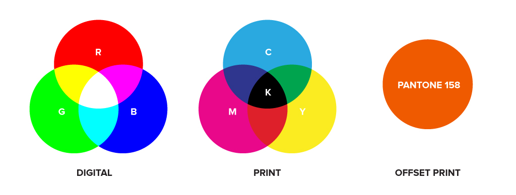 Comparing rgb cmyk and pms colour profiles