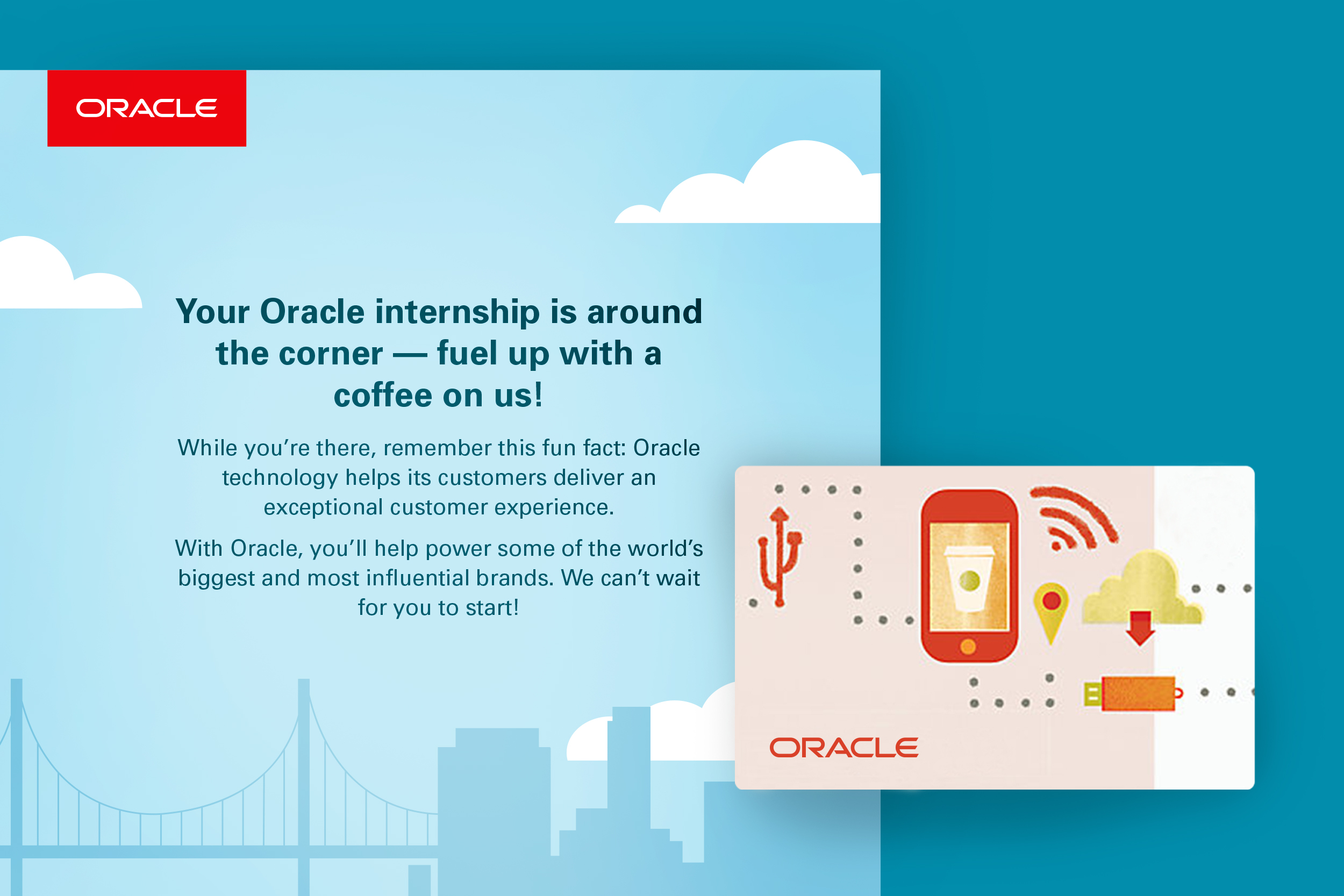 Oracle internships Starbucks card design