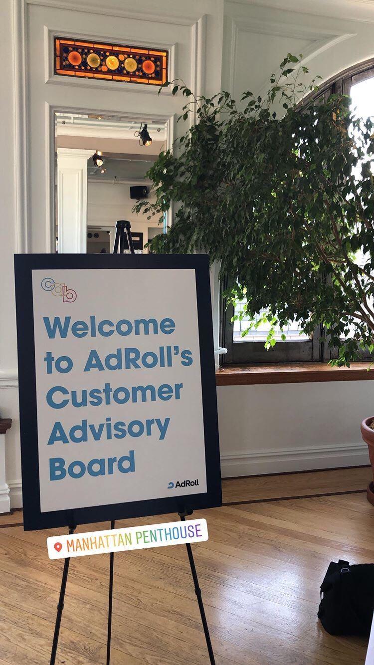 AdRoll's 2019 Customer Advisory Board in Manhattan