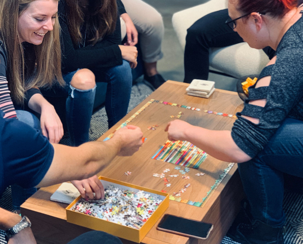 Puzzling during Stryve's team social