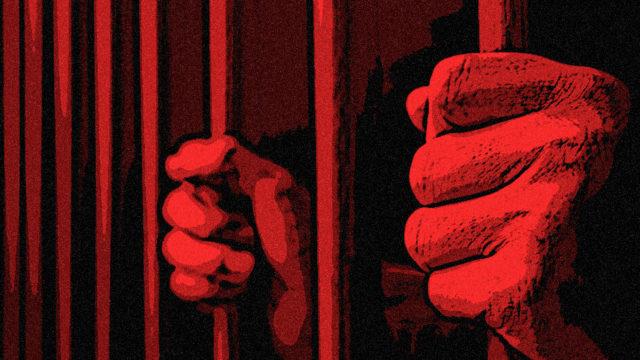 Person behind bars