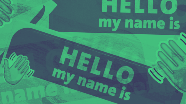Collage of name tags