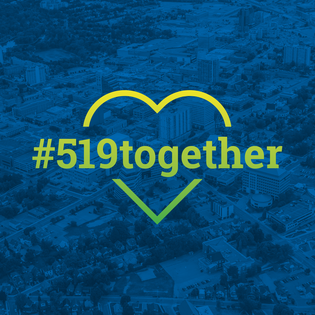 Share this image along with the hashtag #519together
