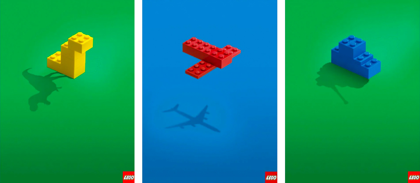 Minimalist Lego advertisements